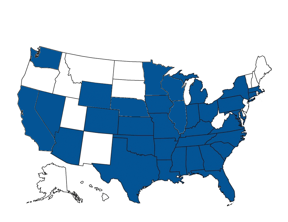 United States map showing GSE Consulting Engineers professional licenses